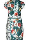 Robe maille imprimé tropical et perroquets, Blanc