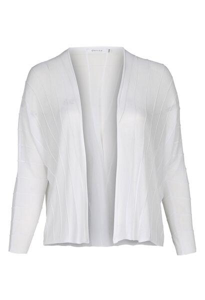 Cardigan lignes structurées - Blanc