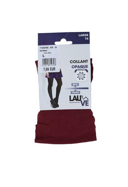 Collant opaque - Bordeaux