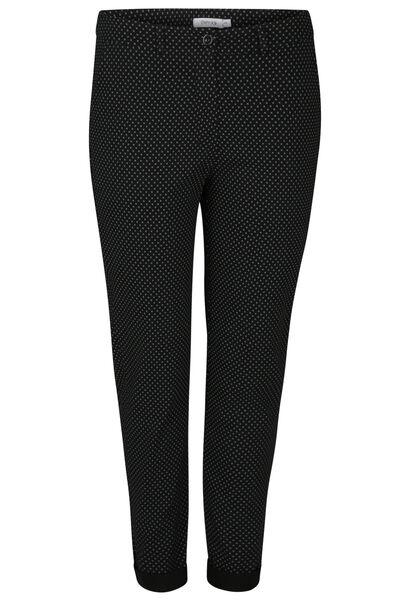 Pantalon en bengaline imprimé - Noir