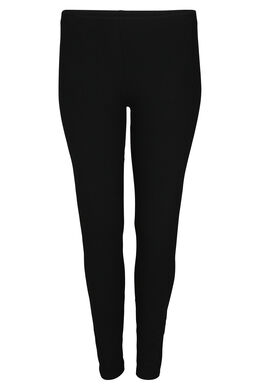Legging long en coton bio, Noir