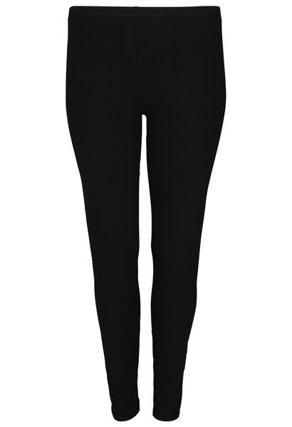 Lange legging in biokatoen - Zwart