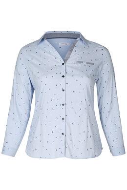 Gestreepte blouse, Lichtblauw