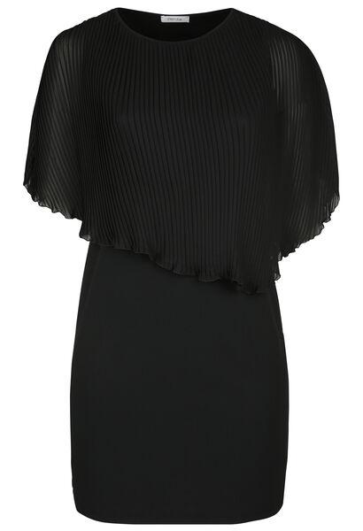Robe haut voile plissé - Noir