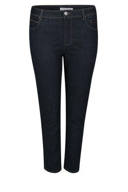 Kuitlange jeans met lovertjes, Denim