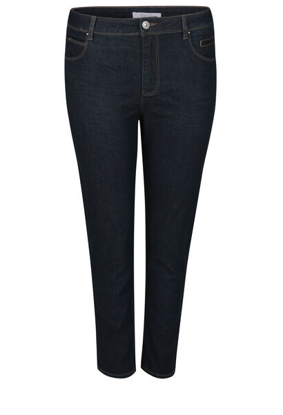 7/8 slim jeans met lovertjes - Denim