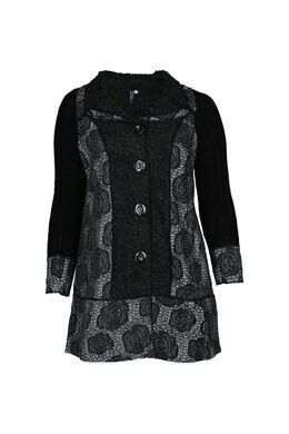 Cardigan manteau, Noir