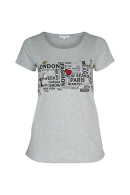T-shirt imprimé, Gris Chine
