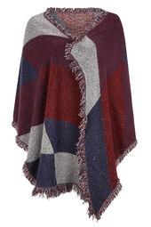 Sjaal met geometrische print + kwastjes
