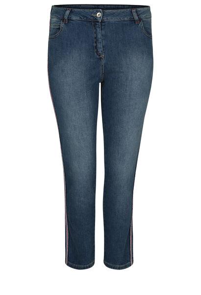 Jeans 7/8 bandes sportswear - Denim