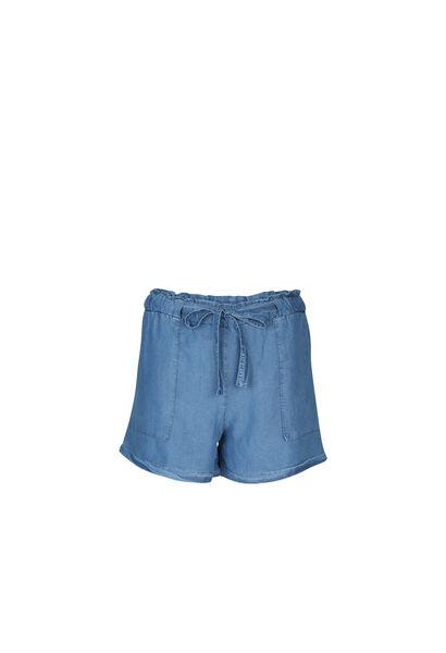 Short en lyocel effet jeans - Denim