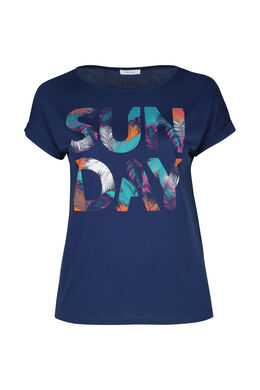 T-shirt 'Sun day', Indigo