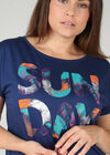 "T-shirt ""Sun day"", Indigo"