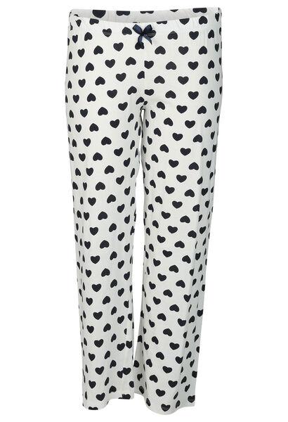 Pantalon imprimé petits cœurs - Gris