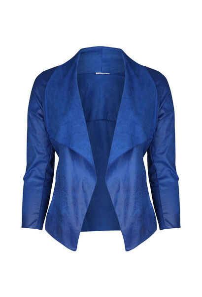 Kort jasje met slippen - Bic blauw
