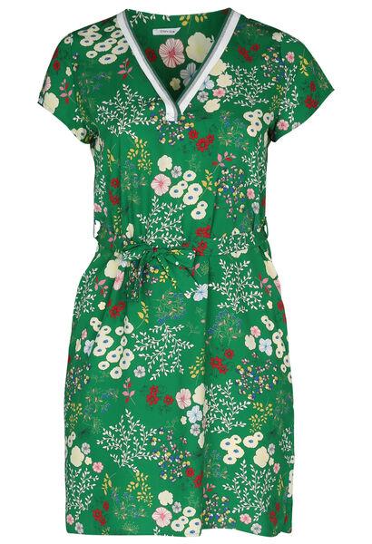 Robe tunique imprimée fleurs - Vert