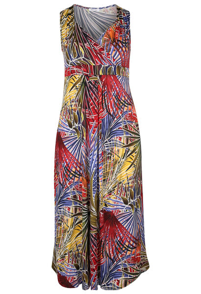 Robe longue maille froide - multicolor