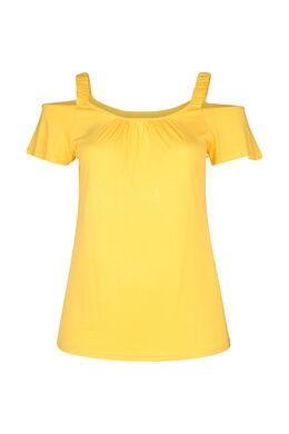 T-shirt met elastische bandjes, Oker