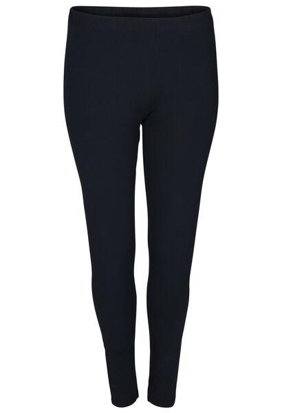 Lange legging in biokatoen - Marineblauw
