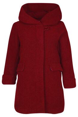 Manteau en laine avec capuche, Bordeaux