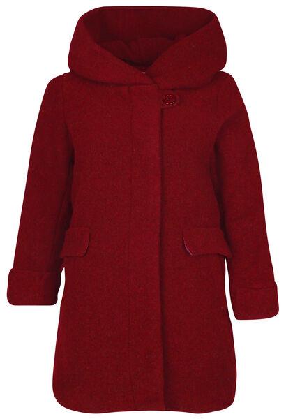 Manteau en laine avec capuche - Bordeaux
