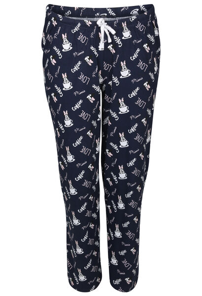 "Pantalon de pyjama ""Coffee"" Minnie - Marine"