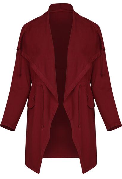Veste longue homewear - Bordeaux