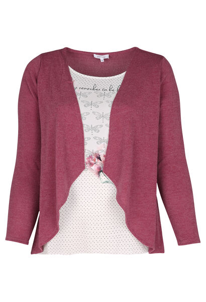 T-shirt effet 2 en 1 - Vieux rose