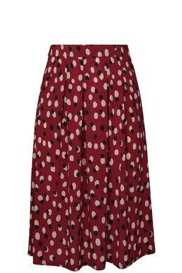 Lange rok met stippen, Bordeaux