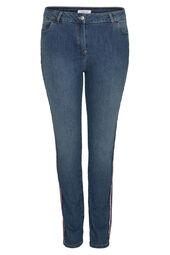 Jeans slim bandes sportswear
