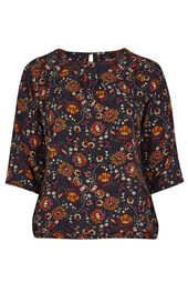 Blouse in floral print