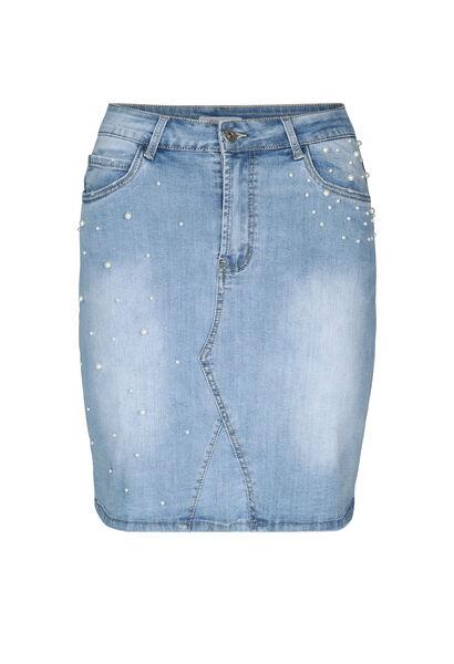 Jupe en jeans avec perles - Denim