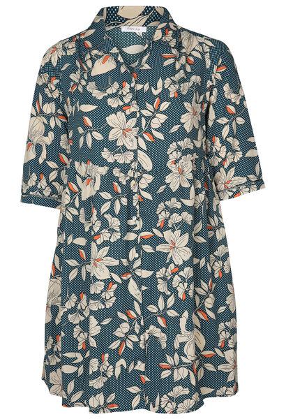 Robe chemise imprimé fleuri - Canard