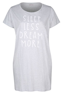 "Robe de nuit ""Sleep less, dream more"", Gris Chine"