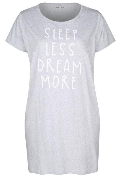 "Nachtkleed  ""Sleep less, dream more"" - Gris Chine"