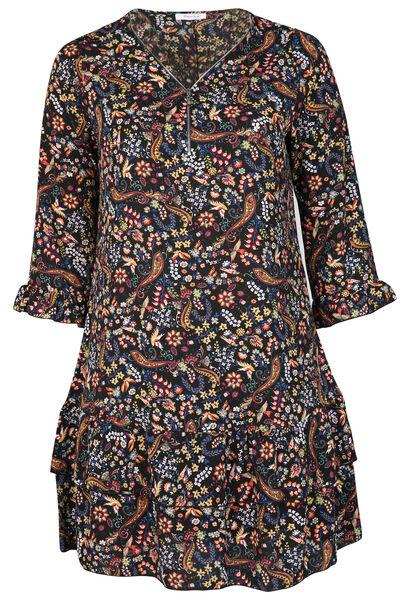 Robe tunique imprimé fleuri - multicolor