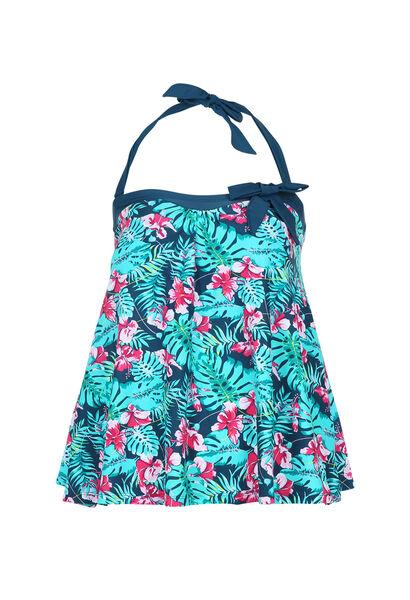 Tankini top met tropische print - Multicolor
