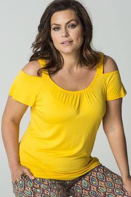 T-shirt bretelles élastiquées, Ocre