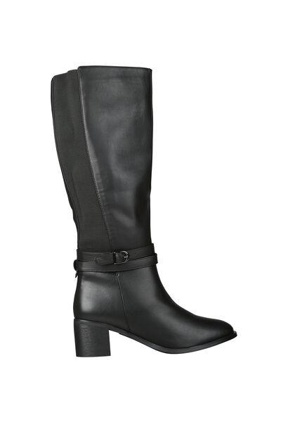 Laarzen met hakken voor brede kuiten - Zwart