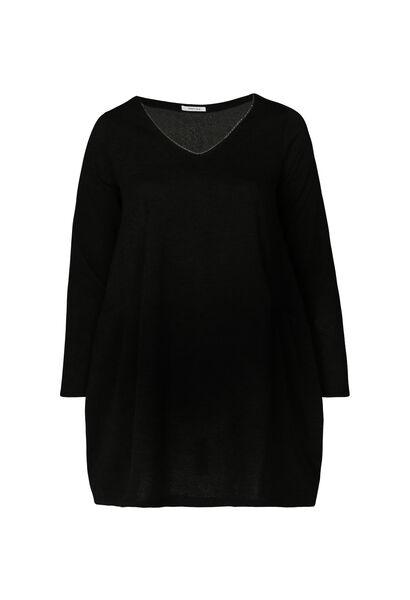 Tuniekshirt in warm tricot - Zwart