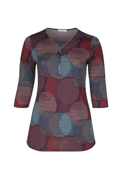 Tunique t-shirt maille froide imprimé ronds - multicolor