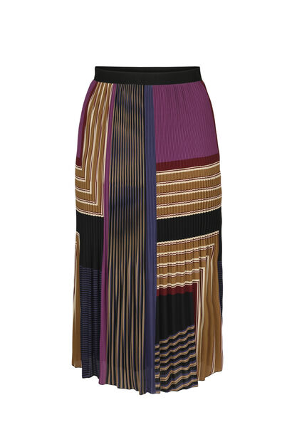 Jupe longue plissée imprimée - Violet