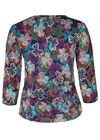 T-shirt in tricot met klavertjes, Multicolor
