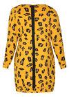 Robe sweat imprimé léopard, Ocre
