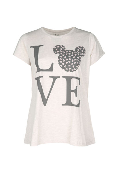 T-shirt de nuit Love - Beige