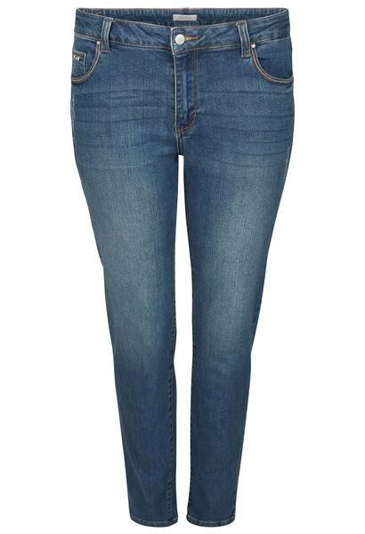 7/8 jeans met borduurwerk - Denim