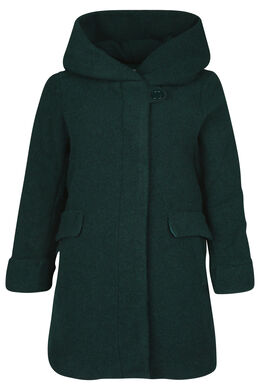 Manteau en laine avec capuche, Vert