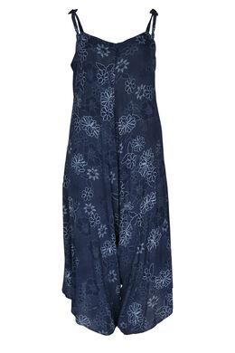 Jumpsuit met kleurrijke bloemenprint, Marineblauw