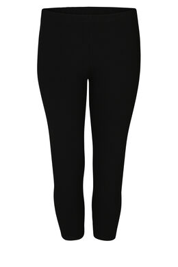 Kuitlange legging in biokatoen, Zwart