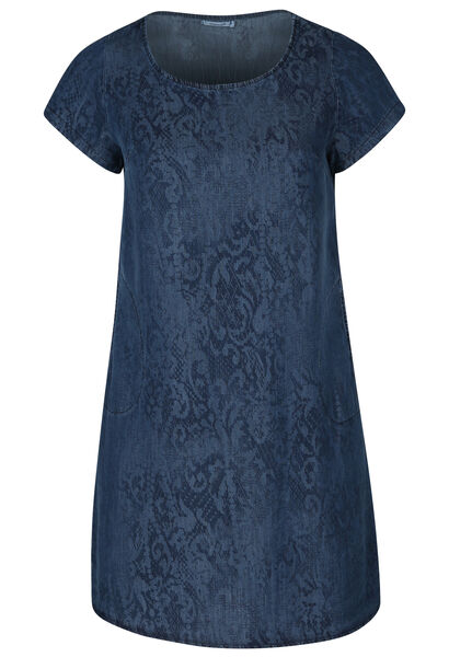 Robe lyocel jeans imprimé serpent - Denim